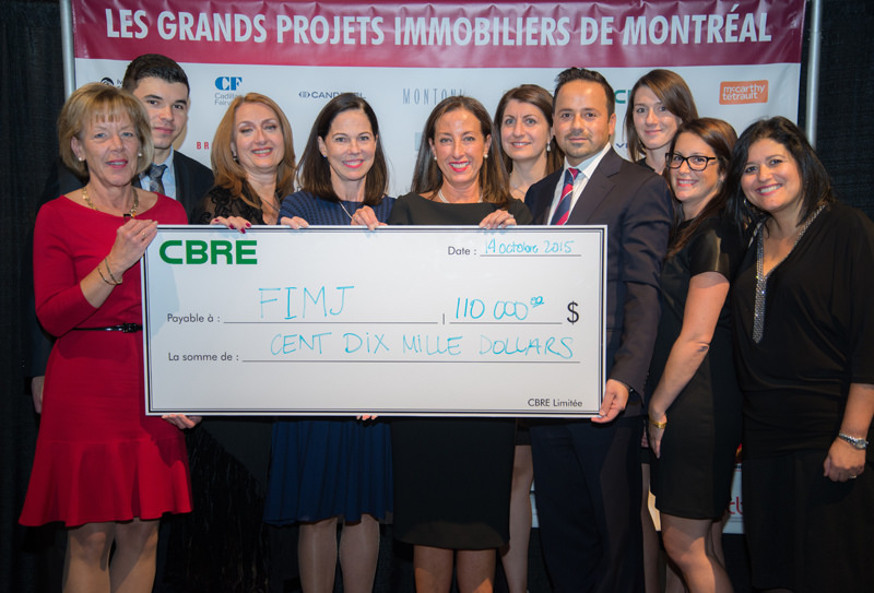 Cocktail CBRE - 110 000 $ pour la FIMJ!