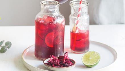 Agua Fresca, hibiscus et chia