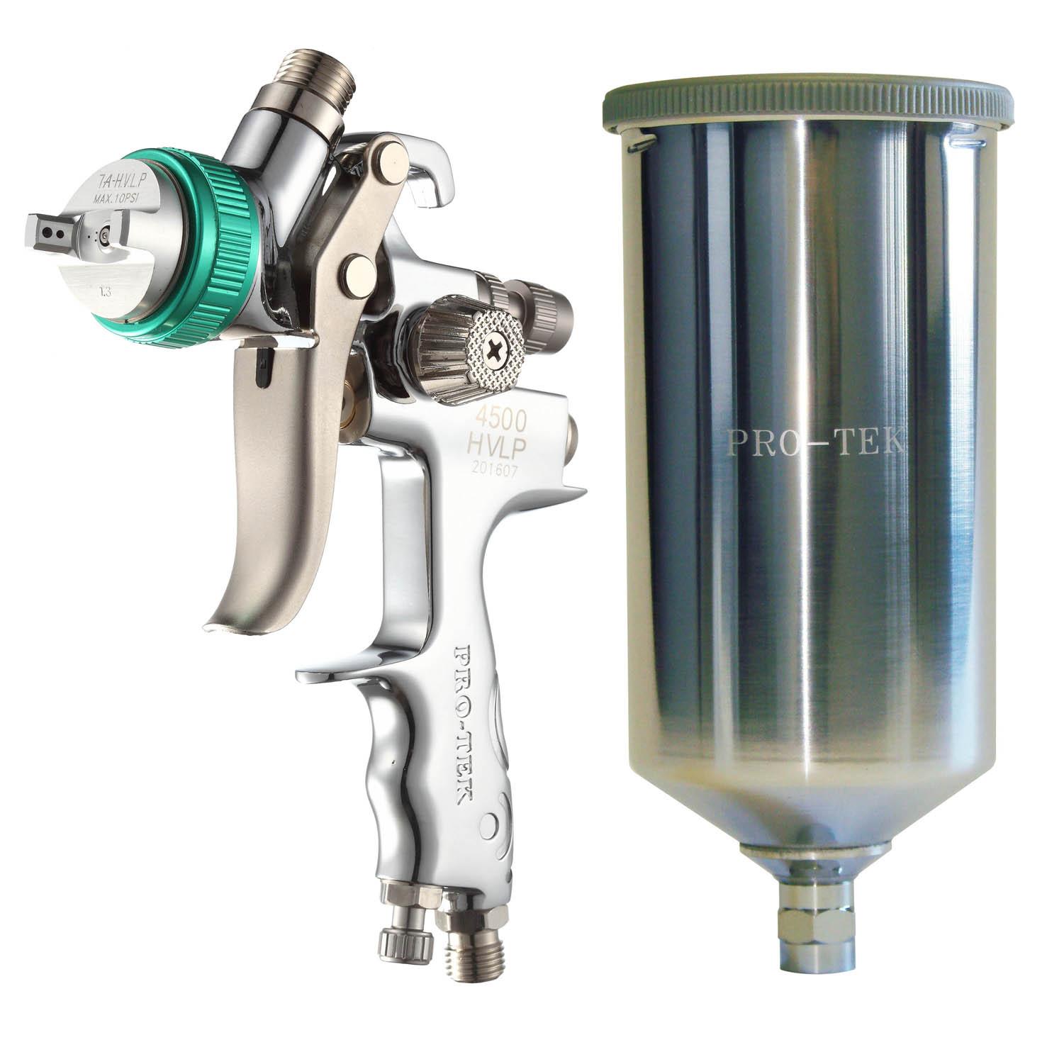 Hvlp Gravity Paint Gun With 1000ml Aluminium Cup